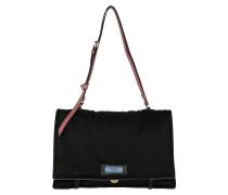 Cartella Satchel Bag Nylon Nero/Loto
