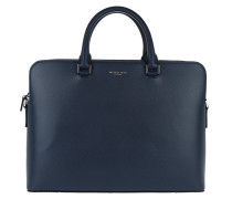 Harrison LG Double Pocket Briefcase Navy Aktentasche