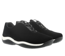 Calzature Donna Velluto Sneakers Black Sneakers