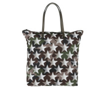 Camouflage Stars Tote Nylon Army Green