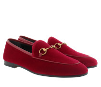 Jordaan Velvet Loafer Red Schuhe