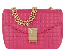 Umhängetasche C Bag Medium Quilted Calfskin Pink