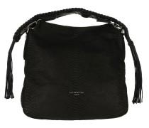Handcut Python Hobo Bag oil black