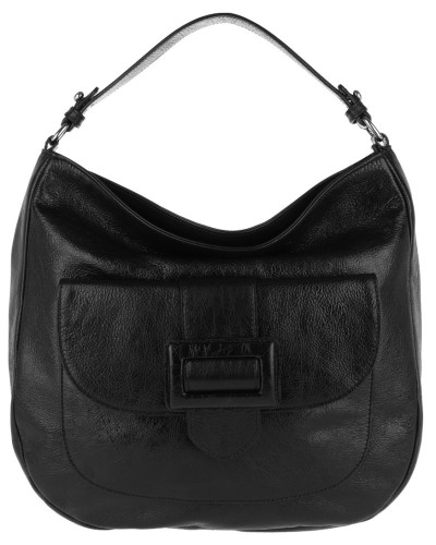 Hobo Bag Calf Figo Hobo Bag Black/Nickel schwarz