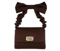 Satchel Bag Top Handle Aubergine