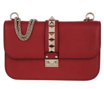 Glam Lock Chain Umhängetasche Bag Rosso