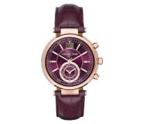 Armbanduhr - Sawyer Watch Rosegold-Tone Leather Purple