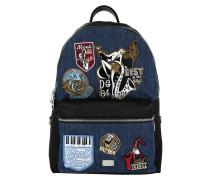 Men Backpack Vulcano Patch Blue/Nero Rucksack blau