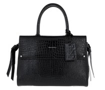 Tote Ikonic Croco Medium Top Handle Bag Black