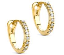 Ohrringe 0.11ct Diamond Creole Earring 14KT Yellow Gold