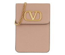 Handyhüllen V Logo Phone Pouch With Chain Leather