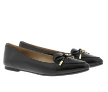 Nancy Patent Flat Black Ballerinas