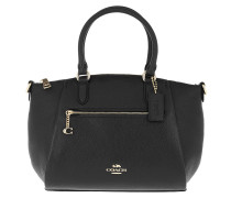 Tote Polished Pebble Leather Elise Satchel Black