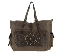 Shopping Bag Tasca Laser Rivet Grigio Umhängetasche