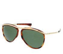 Sonnenbrille Olympian Aviator Stripped Havana