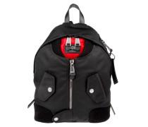 Skull Bomber Jacket Backpack Black Rucksack