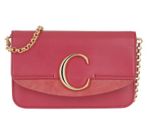 Umhängetasche C Clutch With Chain Scarlet Pink