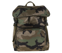 Backpack Nylon Camouflage Army Green/Nero Rucksack