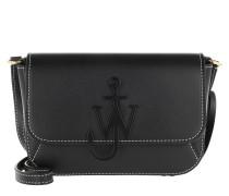 Umhängetasche Braided Midi Anchor Crossbody Bag Black
