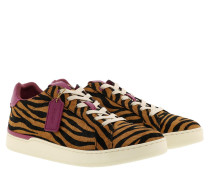 Sneakers Low Line Top Sneaker Black Camel/Hibiscus