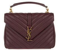 Tasche - YSL Monogramme MD College Bag Bordeaux