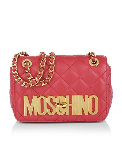 moschino damen moschino tasche quilted shoulder bag red in rot umh ngetasche f r damen 30. Black Bedroom Furniture Sets. Home Design Ideas