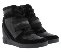 Perforated Wedge Sneakers Nero