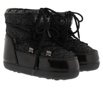 Snow Boot Black Glitter Schuhe