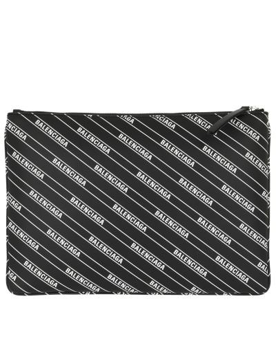 Clutch Logo Clutch Leather Black/White schwarz