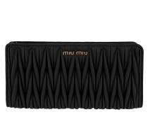 Wallet Matelassé Rectangular Black Portemonnaie