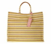 Shopper Handbag Woven Paper Fabric