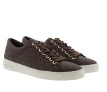 Keaton Lace Up MK Signature PVC Brown Sneakers