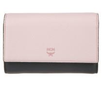 Kleinleder - Milla 3 Fold Wallet Medium Black/Rose