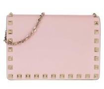 Umhängetasche Rockstud Chain Leather Shoulder Bag Rose Quartz