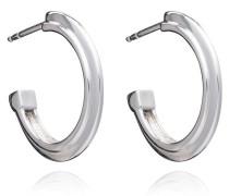 Ohrringe Art Deco Stepped Hoops Earrings Silver