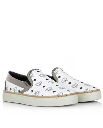 mcm damen mcm loafers slippers visetos slip on white. Black Bedroom Furniture Sets. Home Design Ideas