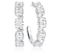 Ohrringe Antella Creolo Grande Earrings White Zirconia 925 Sterling Silver