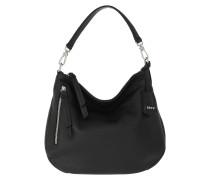 Hobo Bag Juna Small Black Nickel