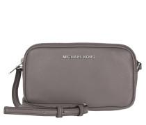 Tasche - Bedford MD Double Zip Crossbody Leather Cinder - in grau