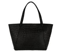 Soho Shopping Bag Croco Oil Black Tote