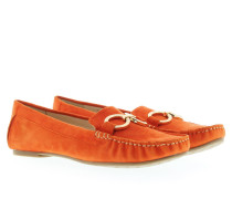 Loafers & Slippers - Selena Moccasin Suede Orange