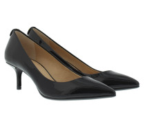 MK-Flex Kitten Pump Patent Black Pumps