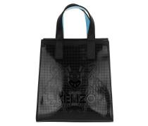 Tiger Mini Tote Bag PVC Black