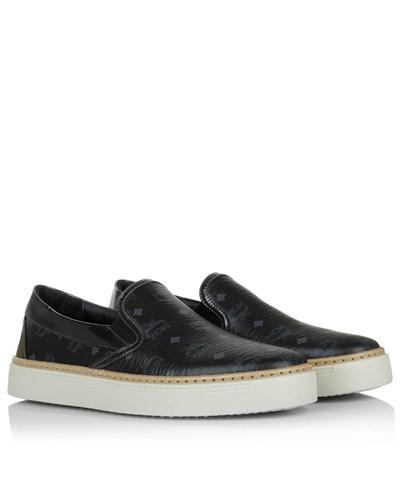 mcm damen mcm loafers slippers visetos slip on black. Black Bedroom Furniture Sets. Home Design Ideas