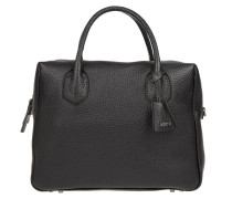 Tasche - Newton Leather Bowling Bag Black/Guncolor
