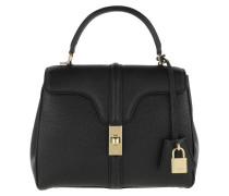 Satchel Bag 16 Small Grained Leather Black