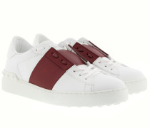 Bicolor Rockstud Sneakers White/Bordeaux Sneakers