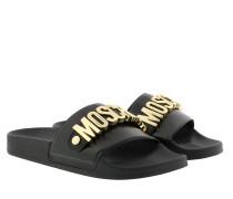 Schuhe M11 Logo Slides Black