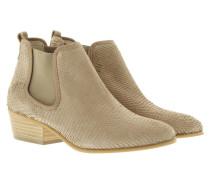 Boots & Booties - Mid Heel Chelsea Boot Nubuk Dune