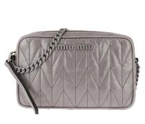 Umhängetasche Camera Bag Leather Taupe